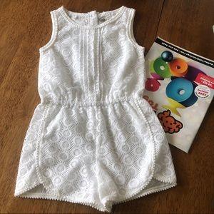 Oshkosh white lace jumpsuit girl 5T NWT